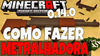 getlinkyoutube.com-Metralhadora Automática Que Atira!! [Sem Mods] Minecraft PE 0.14.0
