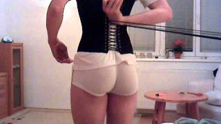 getlinkyoutube.com-Male corset self-lacing. Part 2: pressure lust