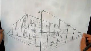 getlinkyoutube.com-طريقة رسم المنظور الهندسي على نقتطين لأماني مرسي