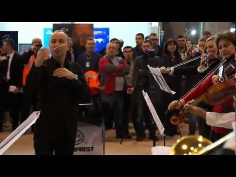 HD Flashmob Bucharest Airports Company: Bucharest Symphony Orchestra at Henri Coanda Airport