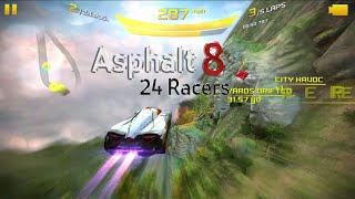 getlinkyoutube.com-Asphalt 8 - Lamborghini Egoista VS HTT Pléthore LC 750 (1699) [24 Racers]