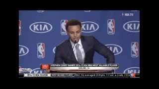 getlinkyoutube.com-Steph Curry Thanks Brother Seth During MVP Speech