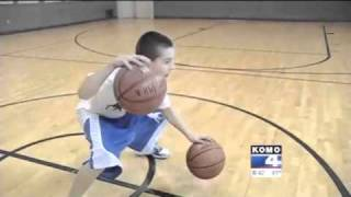 getlinkyoutube.com-12-year old Jordan McCabe basketball prodigy and phenom on KOMO News Seattle Little Heroes