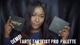 getlinkyoutube.com-Demo! Tarte Tarteist Pro & Pro Glow On Dark Skin !
