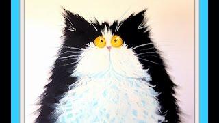 getlinkyoutube.com-Рисуем кота гуашью, по мотивам Kim Haskins