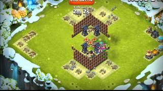 getlinkyoutube.com-Castle Clash - Diamond of Doom HBM Defense - Wave E - #1