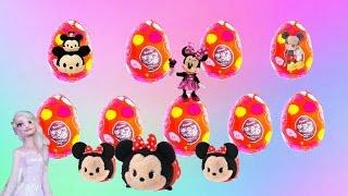 getlinkyoutube.com-9 FURUTA surprise eggs   unboxing   Disney Tsum Tsum Surprises   twinkleToys