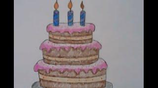getlinkyoutube.com-เค้ก สอนวาดรูปการ์ตูนน่ารักๆ ง่ายๆ สอนวาดรูประบายสีการ์ตูน