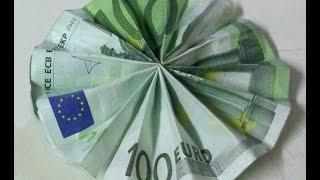 getlinkyoutube.com-Geldscheine falten: Sonne - kreatives Geldgeschenk
