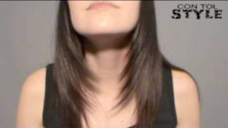 Desfilar el Cabello - How to trim your hair diagonally