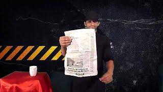 تعلم العاب الخفة # 316 . newspaper magic  revealed width=