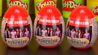 getlinkyoutube.com-One Direction Amazing Cute Surprise Eggs Play Doh Kids Fun