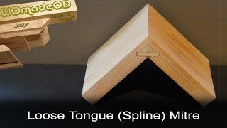 getlinkyoutube.com-Loose Tongue Mitre (Splined Mitre) - How to cut by hand