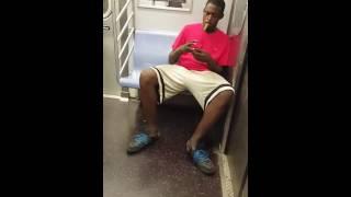 getlinkyoutube.com-Another ride on nyc subway train 2016 smoking Marijuana in public mta. Priority seating
