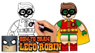 getlinkyoutube.com-How to Draw Lego Robin- Drawing Tutorial Video