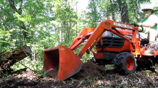 getlinkyoutube.com-Kubota BX2200 Stump Removal