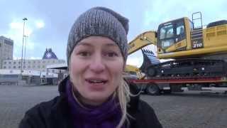getlinkyoutube.com-Trucking Girl - Załadunek koparki KOMATSU PC210, Loading of the KOMATSU PC210 excavator ep. 41