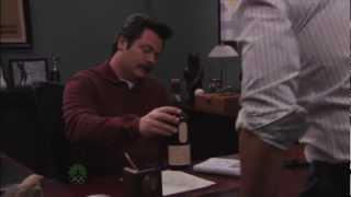 getlinkyoutube.com-Ron Swanson Drinks Lagavulin