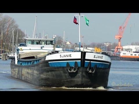 Click to view video GMS SJANIE PD5992 MMSI 244690073 Emden riverbarge inland cargo ship Binnenschiff