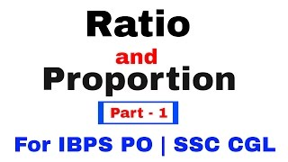 Ratio and Proportion Tricks for Bank Exams & SSC [In Hindi] Part 1