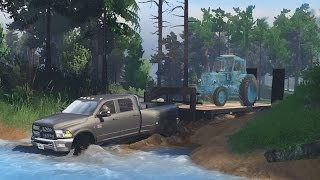 getlinkyoutube.com-Dodge Ram 5500 Cummins Dually | Heavy Off-Road Towing | Mudding & Hauling! (SpinTires)