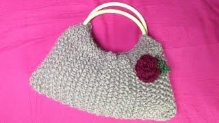 getlinkyoutube.com-How to Loom Knit a Handle Bag (DIY Tutorial)