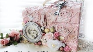 getlinkyoutube.com-Tresors De Luxe DT Project Shabby Chic Altered Case