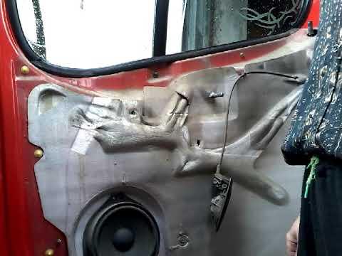 Как снять извлечь заменить стекла передней двери NISSAN PRIMASTAR demontaz zamiana szyby drzwi przod