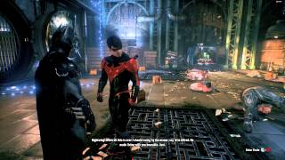 getlinkyoutube.com-New 52 Red Nightwing Tag Team - Batman: Arkham Knight