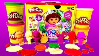 getlinkyoutube.com-Play Doh Dora The Explorer Playset Playdough Hasbro Kit Play-Doh Dora La Exploradora