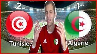 TUNISIE 2-1 ALGERIE ! REACTION CAN 2017 VLOG