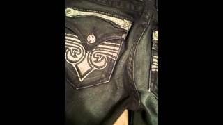getlinkyoutube.com-Affliction/Rock Revival jean review
