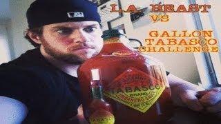 getlinkyoutube.com-L.A. BEAST DRINKS A GALLON OF TABASCO SAUCE (vomit alert)