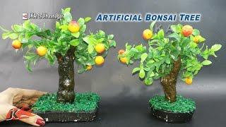 DIY Artificial Bonsai Tree Tutorial   How to make   JK Arts 923