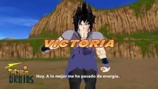 getlinkyoutube.com-Sasuke Uchiha vs Vegeta SSJ (Cross over) DBZ TTT(MOD)