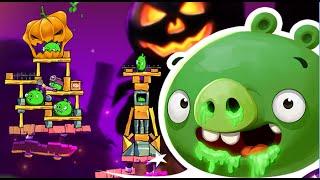 getlinkyoutube.com-Angry Birds 2 - Halloween Theme Snotting Hill Level 286 - 290 Walkthrough 3 Stars!