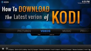 getlinkyoutube.com-KODI How To DOWNLOAD The Latest Version of Kodi 16.0
