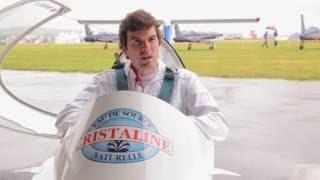 Hugues Duval présente l'avion électrique Cristaline