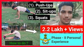 Indian Airforce Physical Fitness Test |  Push-Ups/Sit-ups/Squats | #Tetarwalfilms
