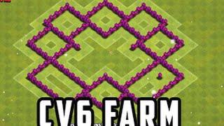 getlinkyoutube.com-Clash of Clans - Best Layout CV 6 Farm