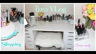 getlinkyoutube.com-Shopping for Vanity Desk at IKEA : VLOG - First IKEA VLOG ever on YT !