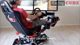 getlinkyoutube.com-3DOF Motion Platform - Wheel Configuration (RacingCUBE)