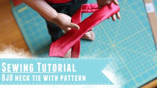 getlinkyoutube.com-Sewing tutorial: How to make a neck tie for BJDs, with pattern tutorial