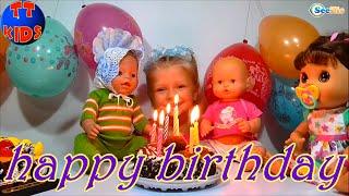 getlinkyoutube.com-✔ Девочка Ярослава отмечает День Рождения Куклы Беби Борн / A birthday for Baby Born Doll ✔