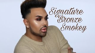 "getlinkyoutube.com-Bronze Smokey Eye Tutorial ""Signature Series""    @mac_daddyy   Angel Merino"