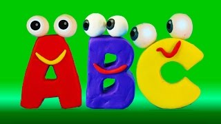 getlinkyoutube.com-Learn ABC with surprise eggs and Play-Doh alphabet I ABC 123 Playhouse Stop motion