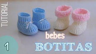 getlinkyoutube.com-Como tejer botitas para bebes (1/2)