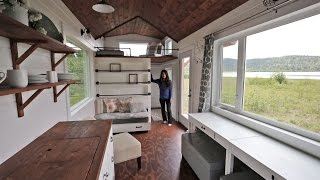 getlinkyoutube.com-Beautiful 24 Foot Tiny House Tour with Free Plans: Ana White Tiny House Build [Episode 18]