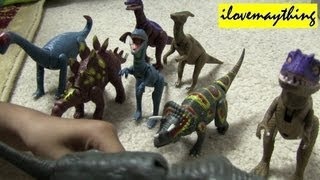 Unboxing His Dinosaur Toys :-)
