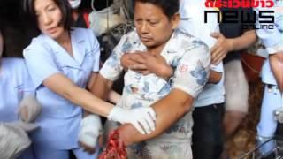 getlinkyoutube.com-ระทึก ชาย 58 ปี ข้อมือติดในเครื่องปลอกมะพร้าวเจ้าหน้าที่เร่งช่วยเหลือ